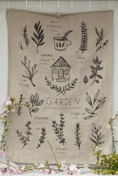 Leinen natur - Handtuch Garden