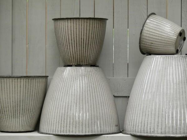 Steel Pot Vintage weiß-grau