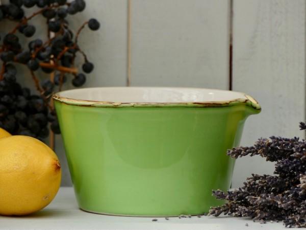 Bianco-Schale mit Ausguß, apfelgrün