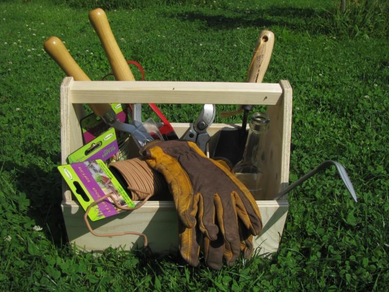 Gartenwerkzeugkasten