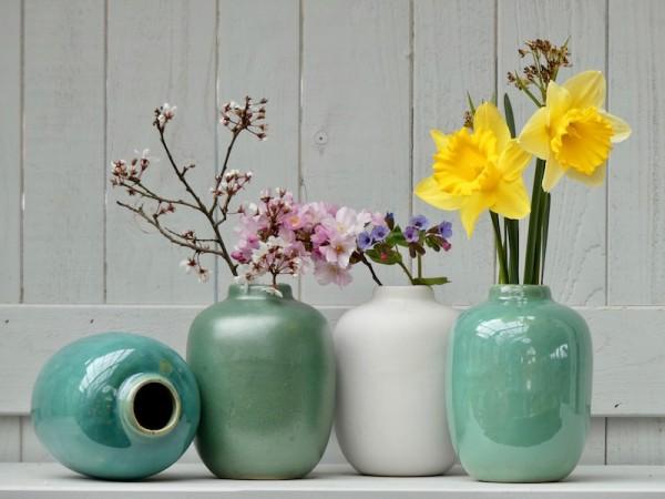 Viererset kleine Vasen
