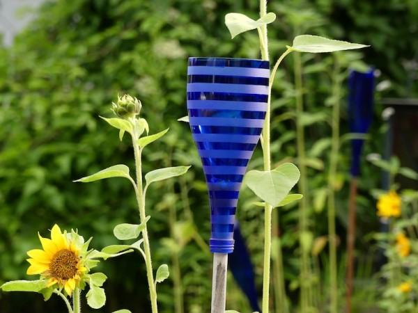 Windlichtflasche blau