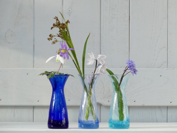 Krokusglas Set blau
