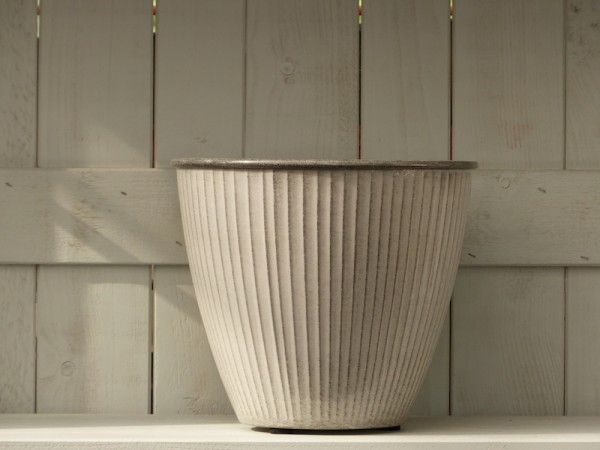 Steel Pot Vintage weiß-grau 26 cm