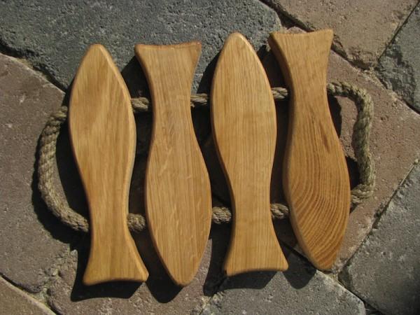 Holzuntersetzer 4 Fische