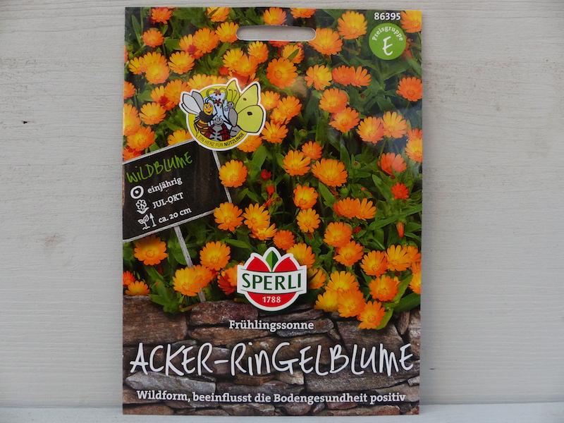 Acker-Ringelblume /'Frühlingssonne/' Calendula arvensis Wildblume 30 Samen 86395